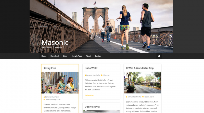 Webdesign Template Masonic